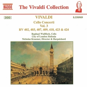 Vivaldi: Cello Concerti Vol.3 album cover