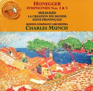 Honegger: Symphonies Nos.2 & 5~ Milhaud: La Creation Du Monde album cover