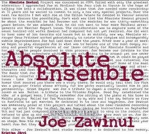 Absolute Zawinul album cover