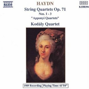 Haydn: String Quartets Op. 71, Nos. 1-3 album cover