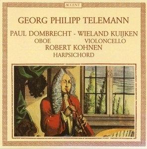 Telemann: Oboe trios album cover