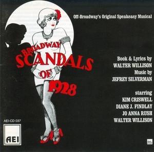 Broadway Scandals Of 1928 (1982 Original Off-Broadway Cast) album cover