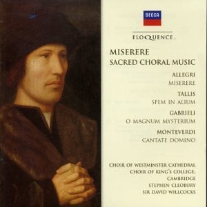 Miserere: Sacred Choral Music album cover