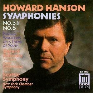 Hanson: Symphonies Nos.3 & 6 album cover