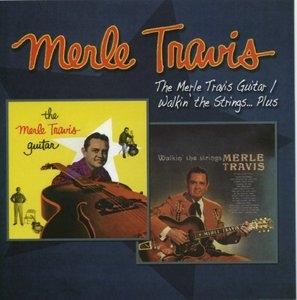 Merle Travis Guitar~ Walkin The Strings... Plus album cover