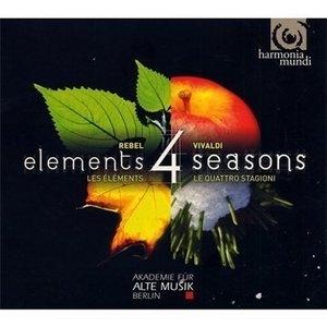 Vivaldi: Four Seasons; Rebel: Les Elements album cover