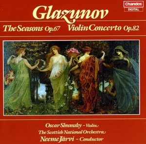 Glazunov: The Seasons album cover