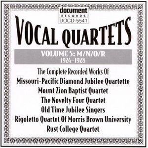 Vocal Quartets Vol.5-M-N-O-R (1924-1928) album cover