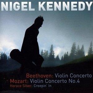 Beethoven: Violin Concerto, Mozart: Violin Converto No.4, Horace Silver: Creepin' In album cover