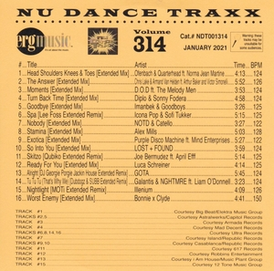 ERG Music: Nu Dance Traxx, Vol. 314 (January 2021) album cover