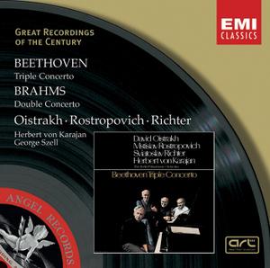 Beethoven: Triple Concerto Op. 56~ Brahams: Violin Concerto album cover