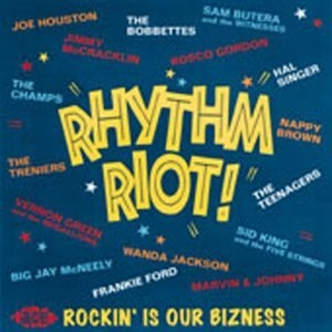 Rhythm Riot! Rockin' Is Our Bizness album cover