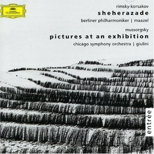 Mussorgsky: Pictures At An Exhibition~ Rimsky-Korsakov: Sheherazade album cover