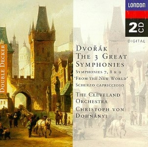 Dvorak: 3 Great Symphonies album cover