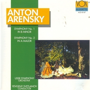 Arensky: Symphonies No.1 & 2 album cover