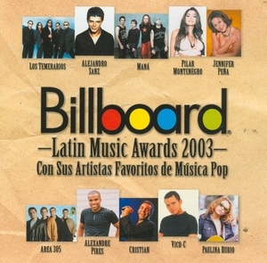 Billboard Latin Music Awards 2003: Pop And Tropical album cover