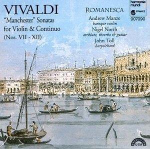 Vivaldi: 'Manchester' Sonatas For Violin & Continuo album cover