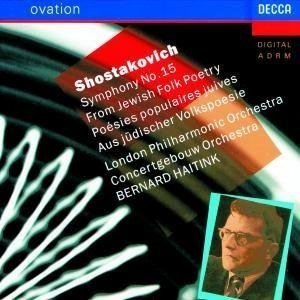 Shostakovich: Symphony No.15, Jewish Folk Poetry album cover