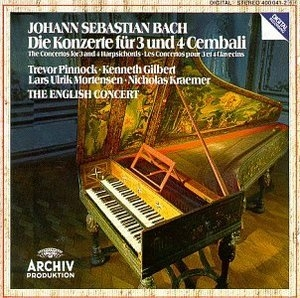 JS Bach: Concertos For 3 & 4 Harpsichords album cover