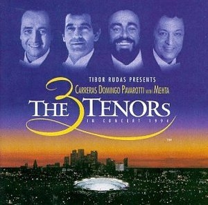 The 3 Tenors: In Concert 1994 album cover