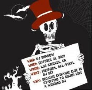 DJ Shadow In Los Angeles,  10-31-09 album cover