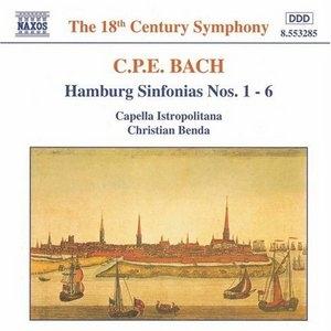 CPE Bach: Hamburg Sinfonias Nos 1-6 album cover