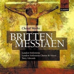 Britten-Messiaen-Choral Works album cover