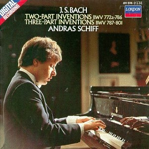 JS Bach: Two Part Inventions, Three Part Inventions album cover