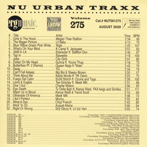 ERG Music: Nu Urban Traxx, Vol. 275 (Aug... album cover