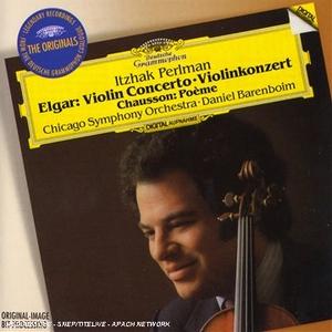 Elgar: Violin Concerto, Chausson: Poème album cover