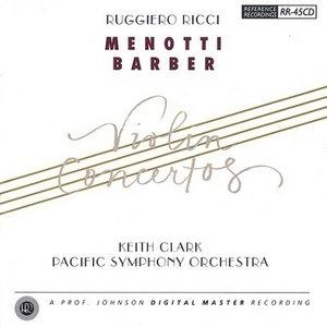 Menotti, Barber: Violin Concertos album cover