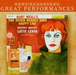 Weill: Lenya Lotte Sings Kurt Weill's The Seven Deadly Sins album cover