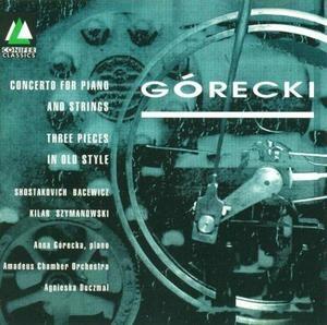 Górecki: Piano Concerto, Shostakovich: Chamber Symphony album cover