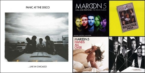 maroon 5 ,backstreet boys,panic at the disco,