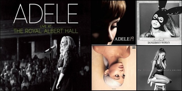 Adele rand Ariana Grande