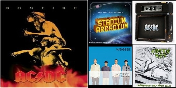 AC DC WEEZER GREENDAY RED HOT